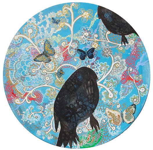 Pájaros y ornamentos